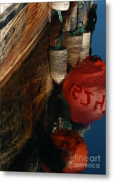 Buoy Reflection I Metal Print