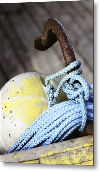 Buoy Rope And Anchor Metal Print