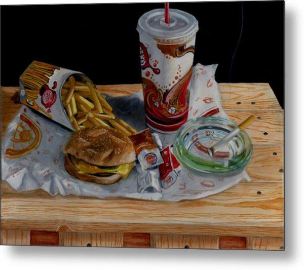 Burger King Value Meal No. 1 Metal Print