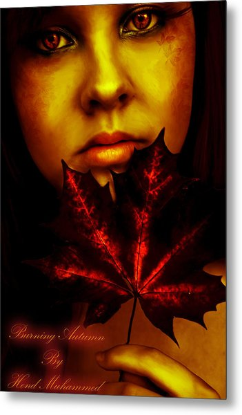 Burning-autumn Metal Print by Hend