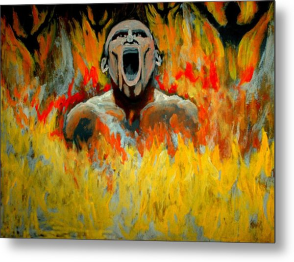 Burning In Hell Metal Print by Anthony Renardo Flake
