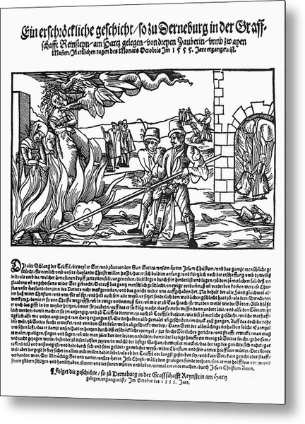 Burning Of Witches, 1555 Metal Print