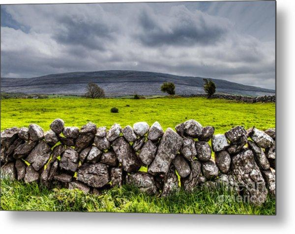 Burren Stones Metal Print