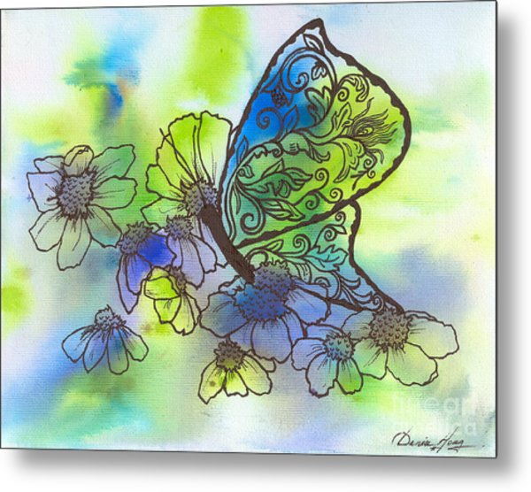 Butterfly Transformations Metal Print