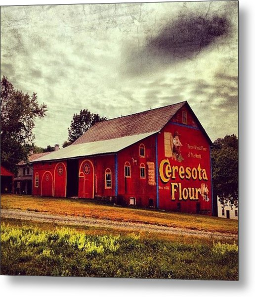 Buy Flour. #barn #pa #pennsylvania Metal Print