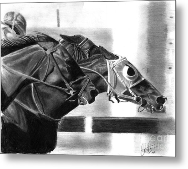 By A Nose Metal Print