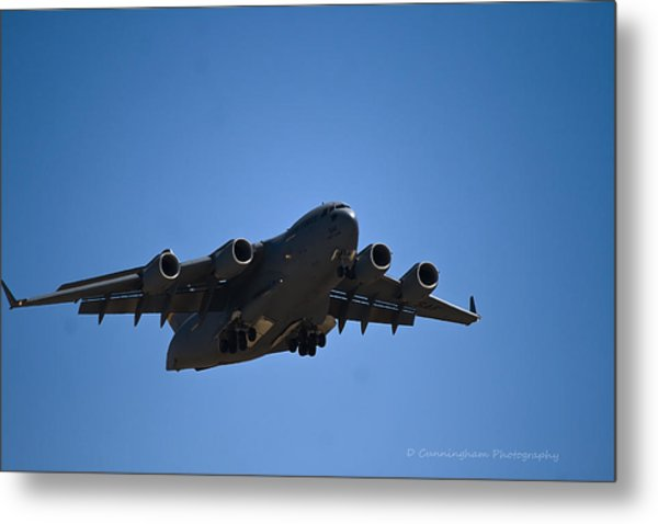 C-17 In Flight Metal Print