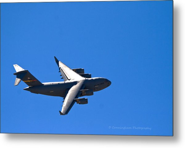 C-17 Turning Right Metal Print