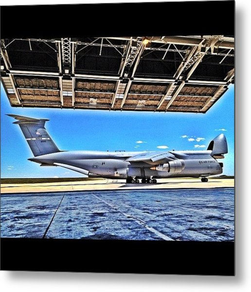 C-5 Galaxy In Hdr Ready To Eat Some Metal Print