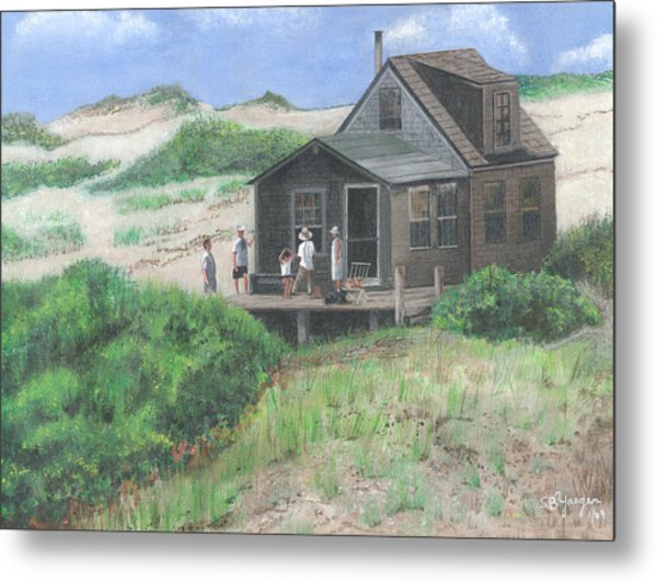 Cabin In The Dunes Metal Print