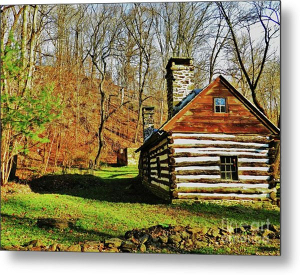 Cabin In The Woods Metal Print by Snapshot Studio