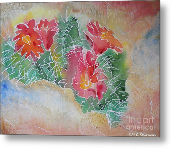 Cactus Art Metal Print by M c Sturman
