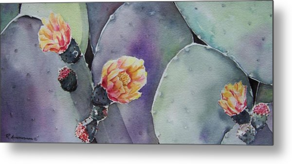 Cactus Bloom Metal Print by Regina Ammerman