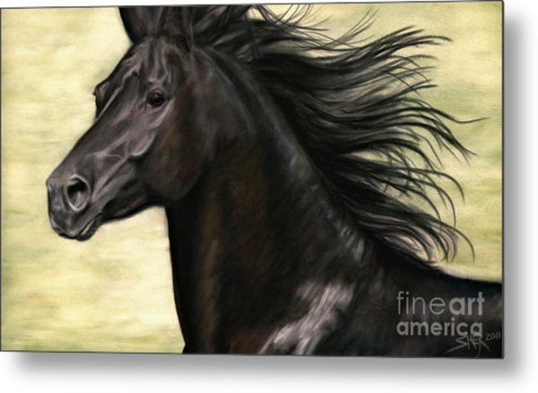 Metal Print featuring the pastel Cadence by Sheri Gordon