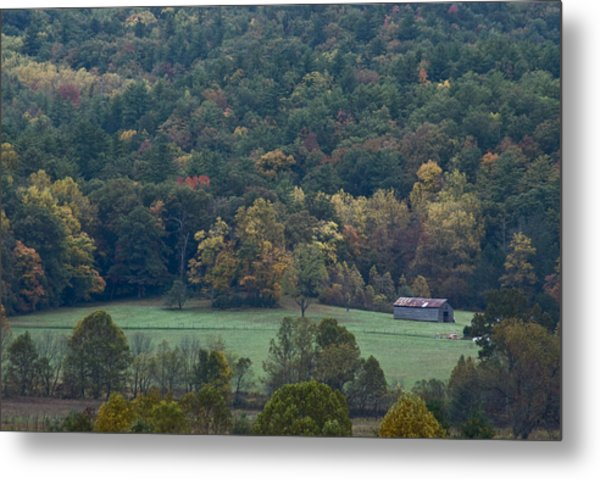 Cade's Cove Barn Metal Print