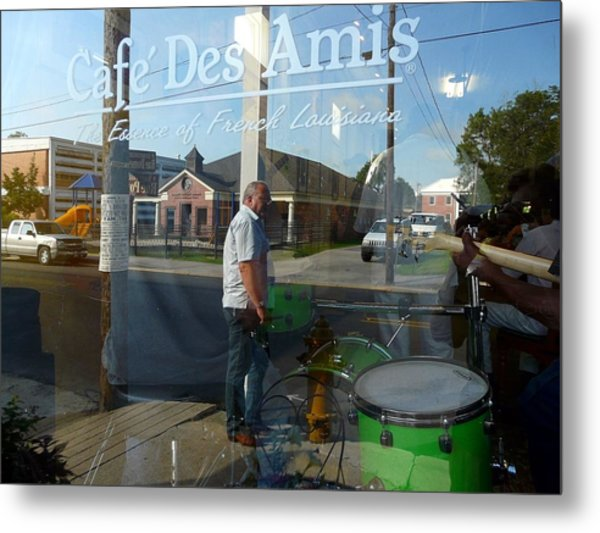 Cafe Des Amis Metal Print by Rdr Creative