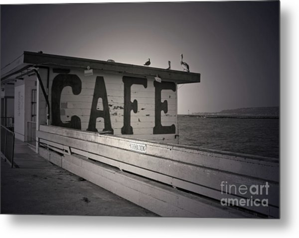 Cafe On The Pier Metal Print