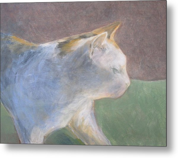 Calico Walking Metal Print