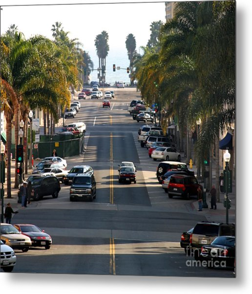 California Street Metal Print
