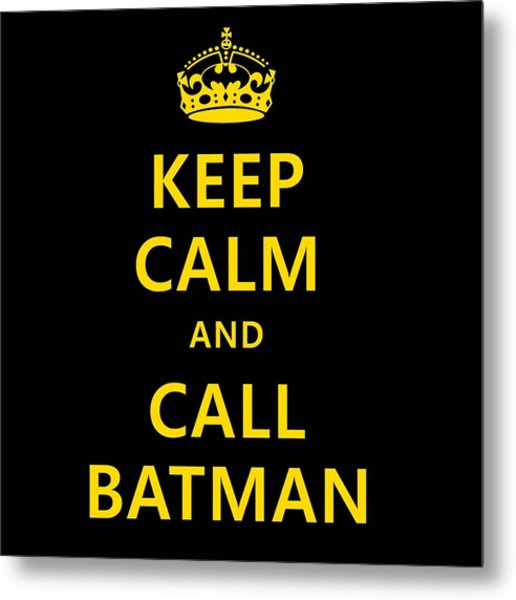 Call Batman Metal Print