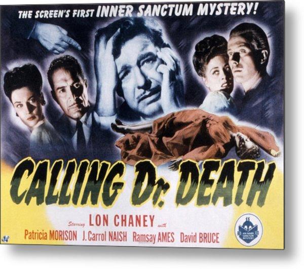 Calling Dr. Death, Patricia Morison, J Metal Print