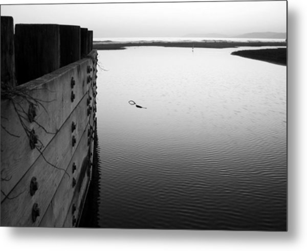 Calm Water In Cambria Metal Print