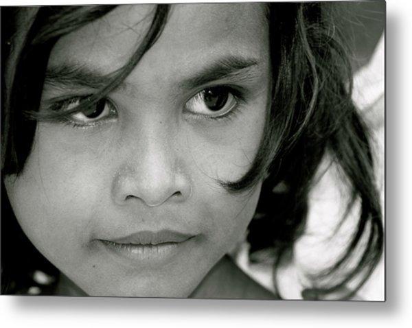 Cambodian Eyes Metal Print