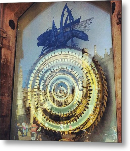 #cambridge #steampunk #clock Metal Print