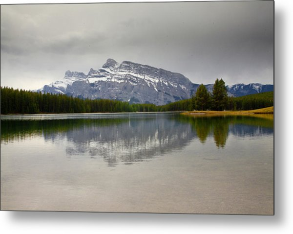 Canadian Lake 1733 Metal Print by Larry Roberson