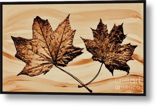 Canadian Leaf Metal Print