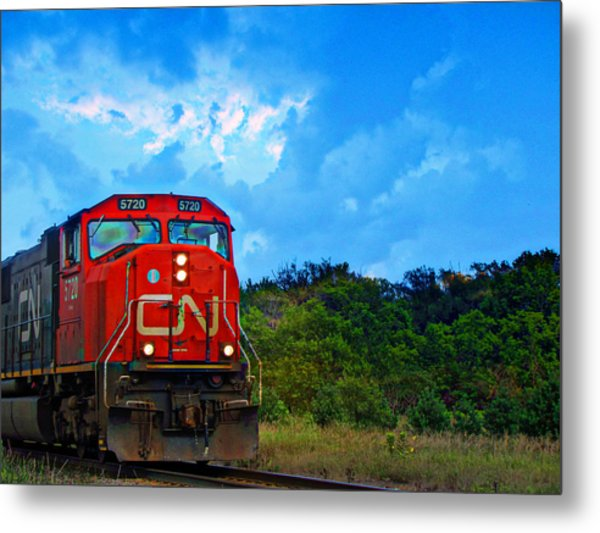 Canadian Northern Railway Train Metal Print