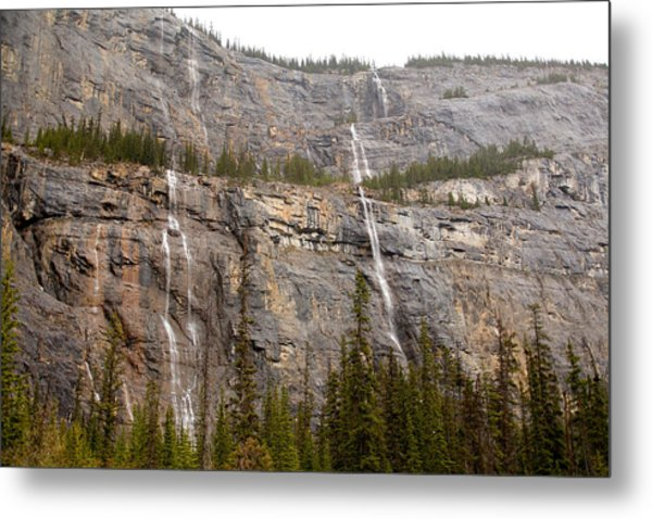 Canadian Water Fall 1924 Metal Print by Larry Roberson