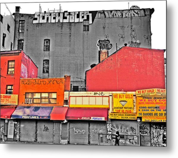 Canal And Bway Metal Print by Bennie Reynolds