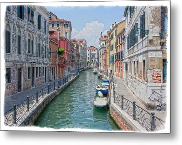 Canals Of Venice Metal Print