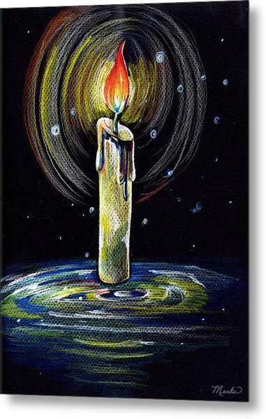 Candel On The Water  Metal Print