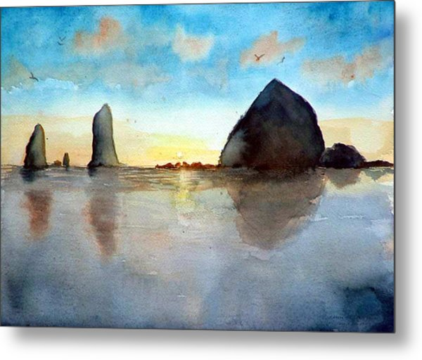 Cannon Beach Sunset Metal Print