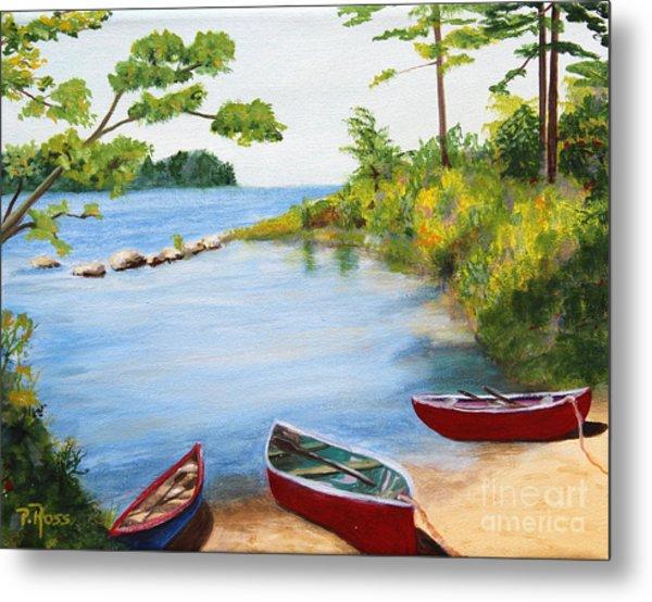 Canoe Inlet Metal Print by Pauline Ross