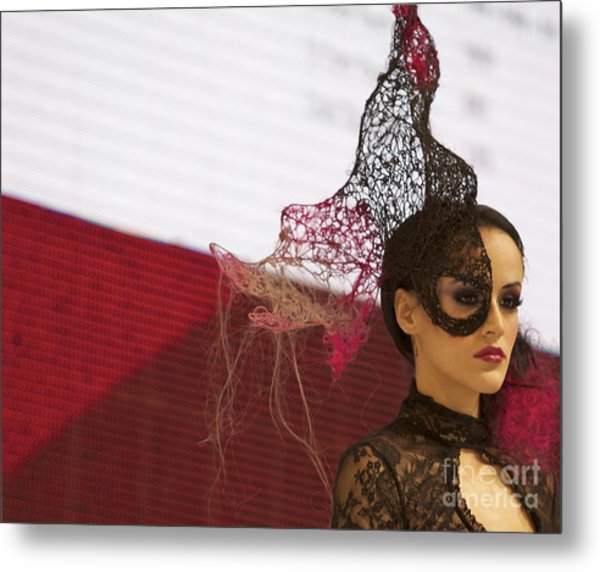 Can't Mask Beauty Metal Print