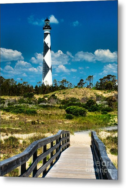 Cape Lookout Light Metal Print