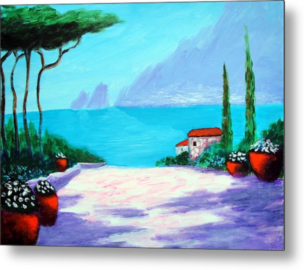 Capri Light And Color Metal Print