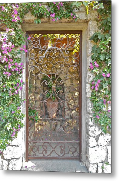 Capri-timeless Gate Metal Print