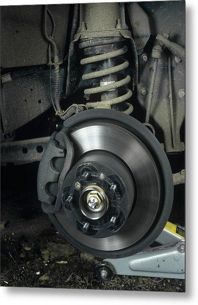 Car Disc Brake Metal Print by Andrew Lambert Photography
