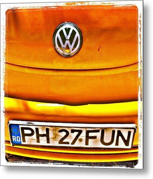 #car #volkswagen #volkswagenbeetle Metal Print