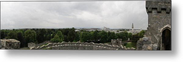 Cardiff Castle Panorama Metal Print