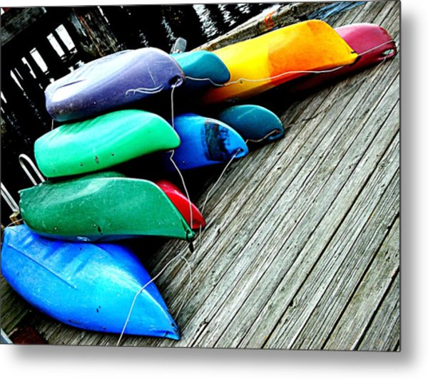 Carefully Stacked Metal Print by Kevin D Davis