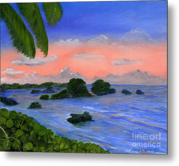 Caribbean Sky Metal Print by Maria Williams