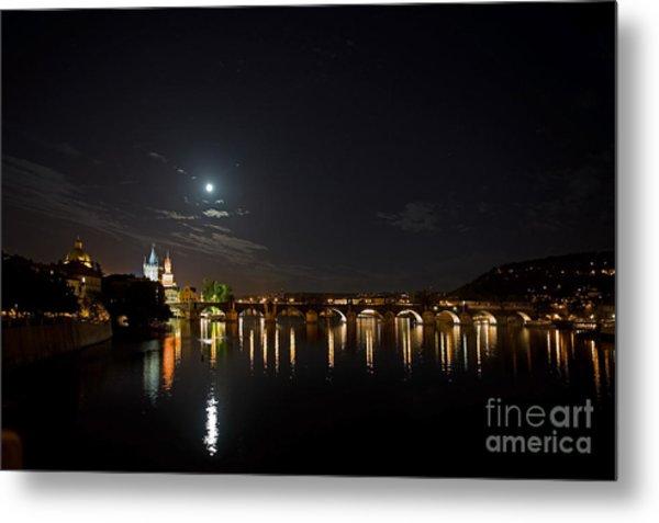 Carls Bridge Prague Metal Print