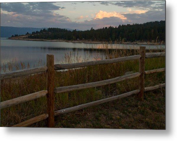 Cascade Lake Sunrise Metal Print by Larry Fry