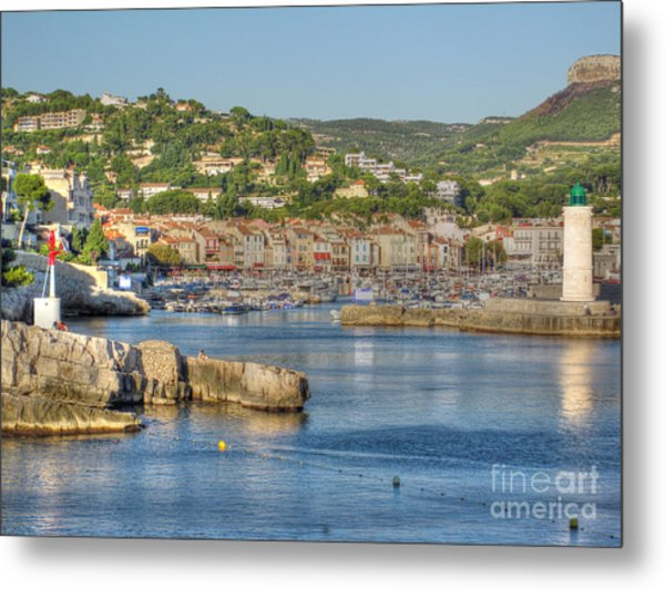 Cassis - Harbour And Lighthouse 2 Metal Print by Rod Jones