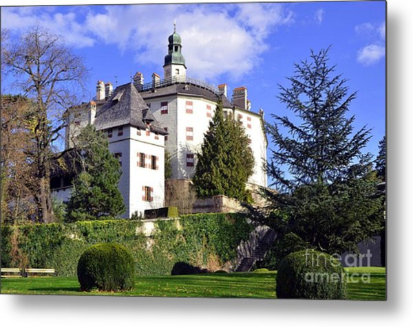 Castle Ambras In Innsbruck Metal Print